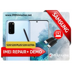 SAMSUNG S20 , S20 PLUS , S20 ULTRA USA MODEL  DEMO RETAIL MODE REMOVE WITH 0000 IMEI FIXING REMOTE SERVICES