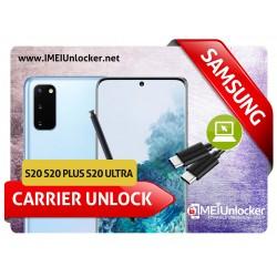 SAMSUNG S20 , S20 PLUS , S20 ULTRA SAMSUNG REMOTE USB CARRIER UNLOCK SPRINT VERIZON T-MOBILE METROPCS CANADIAN