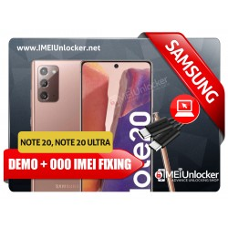 SAMSUNG NOTE 20 , NOTE 20 ULTRA DEMO RETAIL + 0000 IMEI FIXING REMOTE SERVICES ON